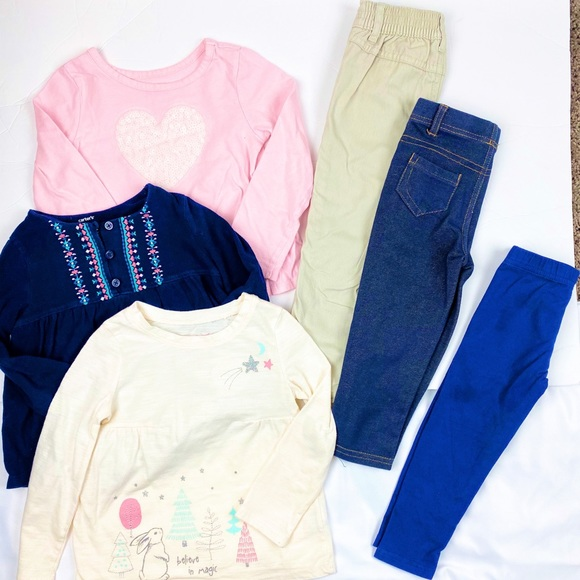 Carter's Other - Carter's Long Sleeves Tees with Pants Set